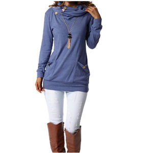 Dresses & Skirts - Long sleeve cow neck tunic